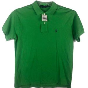 NWT Ralph Lauren Polo Shirt Green Pony Mens Small